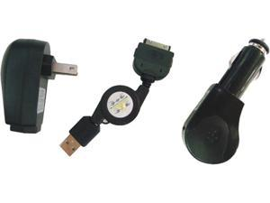 inland Pro iPhone and iPod 3-in-1 Charging Kit 08521