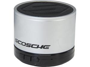Scosche BTSPK1SR Bluetooth Micro Portable Speaker Silver