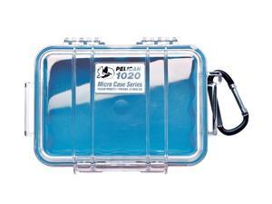 Pelican Micro Case with Clear Lid and Carabineer (Blue) 1020-026-100
