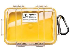 Pelican Micro Case with Clear Lid and Carabineer (Yellow) 1020-027-100