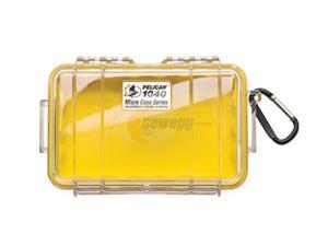 Pelican Micro Case with Clear Lid and Carabineer(Yellow) 1040-027-100
