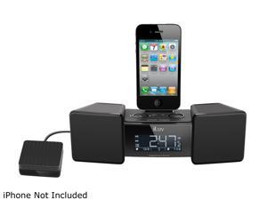 iLuv Vibro II Alarm Clock (Black) with Shaker for iPhone / iPod iMM155BLK