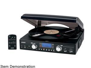 JENSEN  JTA-460 3-Speed Stereo Turntable with AM/FM Stereo Radio