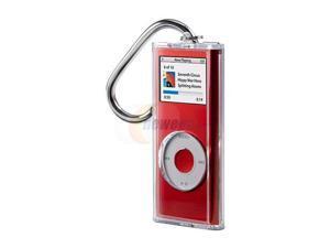 Clear Acrylic Case w/ Carabiner Clip For iPod Nano 2G
