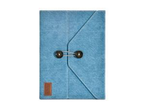 iLuv iCC837BLU Dungarees Portfolio Jacket with Stand for iPad 2 and The New iPad - Blue