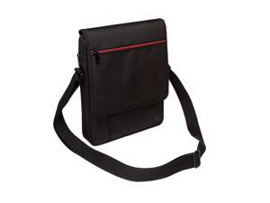 "V7 TD21BLK-1N Premium Messenger Bag For Ipad And Tablets Up To 10.1"" Black with Red accent"