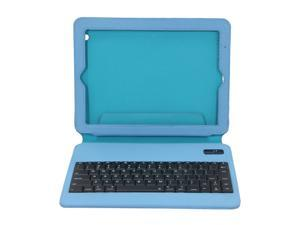 Aluratek Blue Ultra Slim Non-Slip Grip Folio Case With Keyboard for iPad 2/3 Model ABTK02FSB