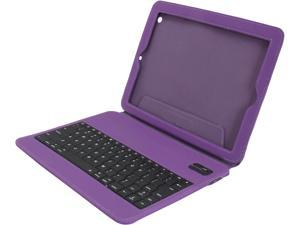 Aluratek Purple Ultra Slim Non-Slip Grip Folio Case With Keyboard for iPad 2/3 Model ABTK02FV