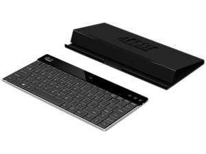 Adesso X scissors-switch aluminum WKB-1000XB bluetooth keyboard with case stand Black