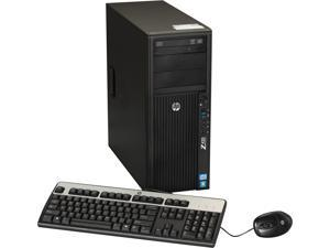 HP Z420 Workstation Convertible Minitower Server System Intel Xeon E5-1603 2.8GHz 4C/4T 4GB Operating System Windows 7 Professional ...