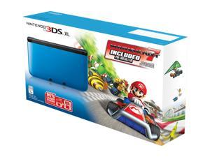 Nintendo 3DS XL Blue/Black System Bundle w/Mario Kart 7