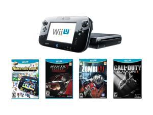 Nintendo Wii U 32GB Bundle w/Ninja Gaiden 3 Wii U, Call of Duty Black Ops 2, and Zombi U Black