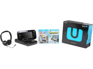 Nintendo WiiU 32GB Bundle w/Lego City and Headset Black