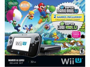Nintendo Wii U Deluxe Set with New Super Mario Bros U and New Super Luigi U