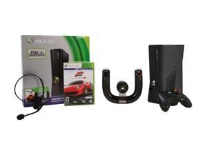 Microsoft XBOX 360 Racing bundle w/Forza 4 & Wireless Speed Wheel 250 GB Hard Drive Black
