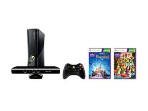Microsoft XBOX 360 Kinect Holiday Bundle w/Disneyland Adventures & Kinect Adventures 4 GB