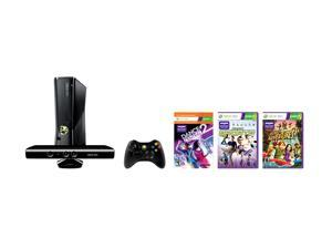 Microsoft Xbox 360 Holiday Bundle 250GB S Gaming System with K - Black Glos #zCL