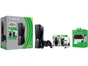 Microsoft Xbox 360 Bundle 250 GB Hard Drive Black