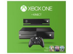 Xbox One 500GB 3 Game Console Bundle with Kinect (No Chat Headset Included)