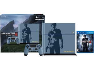 PlayStation 4 Console - Uncharted 4 Limited Edition 500GB Bundle + Sony DualShock 4 Wireless Controller Combo