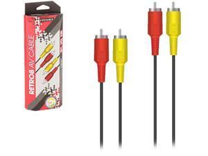 Retro-Bit NES - Cable - AV Cable - 2 Prong - Red-Yellow (Retro-Bit)