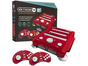 Hyperkin RetroN 3 Gaming Console 2.4 GHz Edition - NES / SNES / Gnensis - (Laser Red)