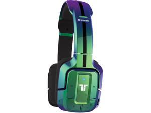 TRITTON Swarm Wireless Mobile Headset with Bluetooth Technology for Android, iOS, Smartphones, Tablets, PC, Mac, and Gaming Consoles - Flip Green