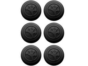 Grip-iT TJ6661 Analog Stick Covers for Xbox 360, Xbox One, PS3 and PS4 - 6 Pack - Black