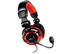 Dreamgear Universal Elite Wired Gaming Headset with Microphone, Black/Red