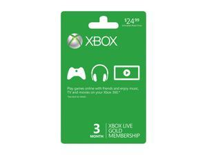 Microsoft Xbox LIVE 3 Month Gold Membership Card