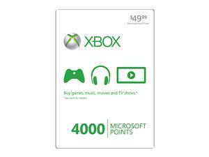 Microsoft Xbox LIVE 4000 Microsoft Points Card