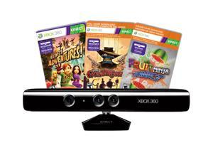 Microsoft Xbox 360 Kinect Sensor Bundle w/Gunstringer and Fruit Ninja Kinect