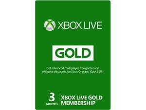 Microsoft Xbox LIVE 3 Month Gold Membership (Digital Code)