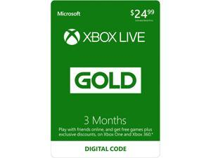 Xbox LIVE 3 Month Gold Membership (Digital Code)