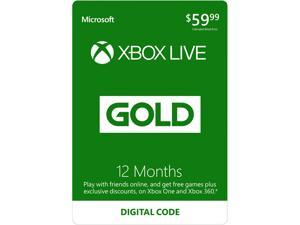 Xbox LIVE 12 Month Gold Membership (Digital Code)