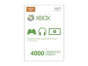 Microsoft Xbox LIVE 4000 Microsoft Points (Digital Code)