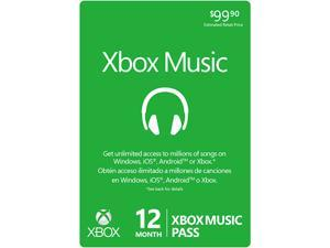 Microsoft 12 Month XBOX Music Pass (Digital Code)