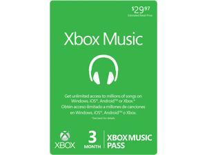 Microsoft 3 Month XBOX Music Pass (Digital Code)