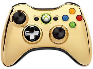 Microsoft Xbox 360 Special Edition Chrome Series Wireless Controller (Gold)