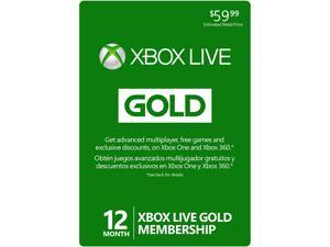 Xbox LIVE 12 Month Gold Membership Card