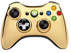 Microsoft Branded Chrome Gold Controller for Xbox 360