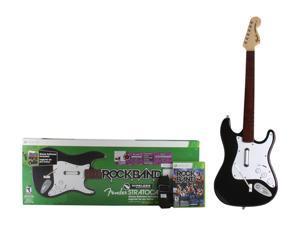 Mad Catz XBOX 360 Rock Band 3 Wireless Fender Stratocaster Guitar Bundle w/Red Hot Chili Peppers Bonus Tracks