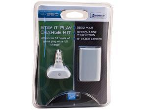 Hyperkin Xbox 360 Stay N' Play Charge Kit (White)