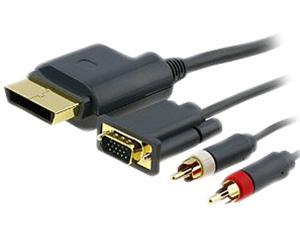 INSTEN 6ft Premium VGA Cable w/ Digital Optical Audio Port for Microsoft Xbox 360 / Xbox 360 Slim to TV