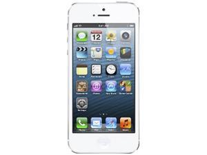 "Apple iPhone 5 MD657LL/A White 3G 4G LTE Dual-Core 1.2GHz Smart Phone with 4"" Screen / iOS 6 / 16GB Memory for Sprint"