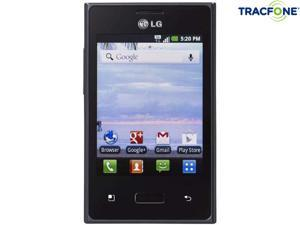 LG Optimus Dynamic 38C Black 800MHz Tracfone Android Smart Phone with 600 Minutes (200 Minute Airtime Card) & Triple Minutes ...