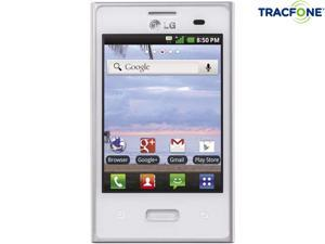 LG Optimus Dynamic 38C White 800MHz Tracfone Android Smart Phone with 600 Minutes (200 Minute Airtime Card) & Triple Minutes ...