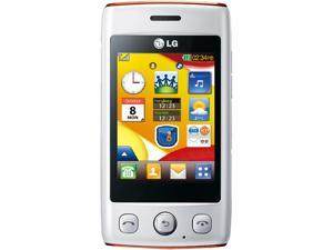 LG Cookie Lite T300 White/Orange Unlocked GSM Touchscreen Cell Phone