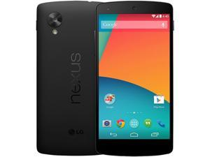 LG Google Nexus 5 Black 3G 4G LTE Quad-Core 2.3 GHz 16GB Unlocked GSM Android Cell Phone