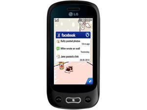 LG Wink Plus GT350i Black Unlocked GSM Slider Cell Phone